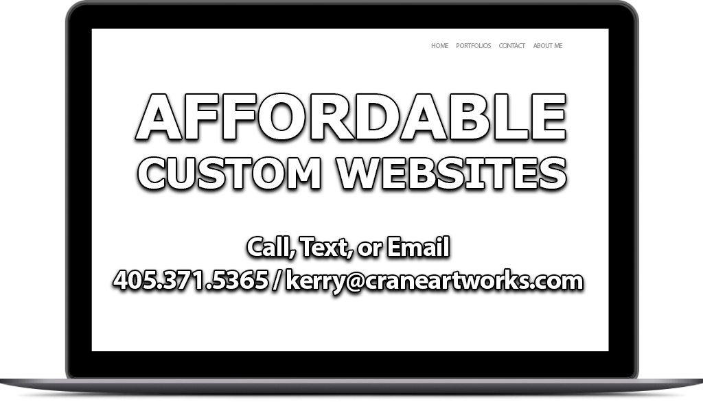 Affordable Custom Websites by Crane Artworks LLC